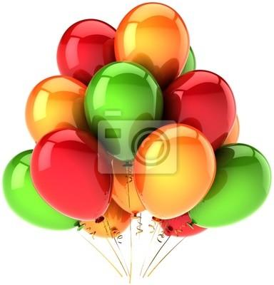 Decoración de globos de cumpleaños multicolor para la fiesta feliz
