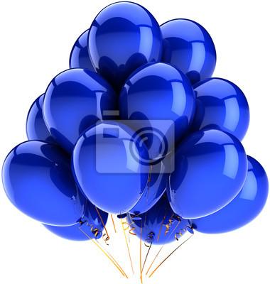 Decoración de vacaciones de fiesta Globos de cumpleaños de color azul