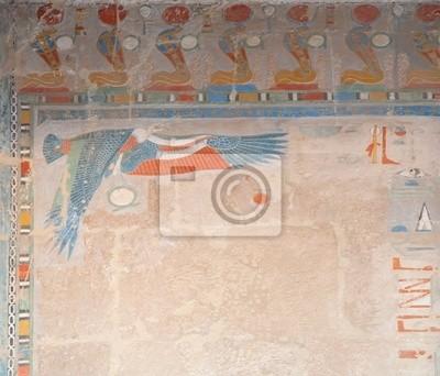decoración en el templo de Hatshepsut