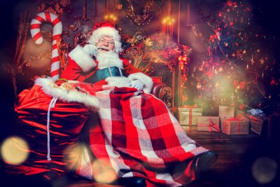 decoraciones de navidad y manta