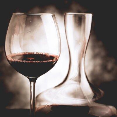 Cuadro Degustación de vino tinto - foto de estilo vintage