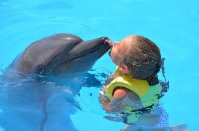 Cuadro Delfín ONU fille embrassant