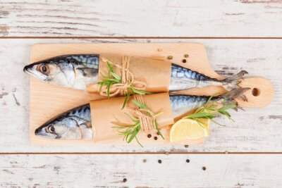 Cuadro Delicioso pescado fresco.