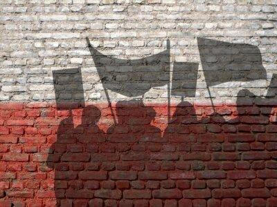 Cuadro Demostración en Polonia
