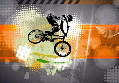 Cuadro Deporte, ilustración de BMX