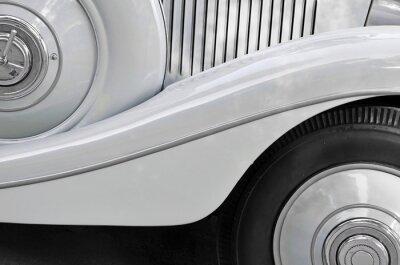 Cuadro Detalle de una carrocería de coche viejo