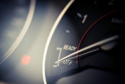 Cuadro Detalle del tacómetro del coche