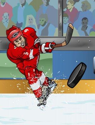 Cuadro Detroit jugador de hockey sobre hielo.
