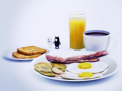 Cuadro diavoli alieni una representación 3D colazione
