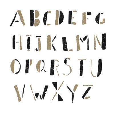 Cuadro Dibujado a mano Doodles del alfabeto