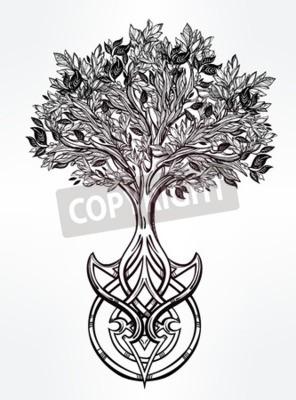 Dibujado A Mano Romántico Dibujo Hermoso Del árbol De La Vida