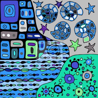 Dibujado a mano vector patrón maraña zen sobre fondo de color ...