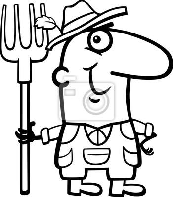 Dibujante De Dibujos Animados Para Granjeros Pinturas Para La Pared