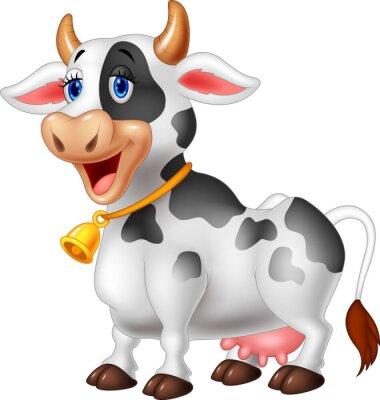 Dibujo animado feliz vaca de la historieta pinturas para la pared ...