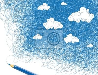 Dibujo Cielo Pinturas Para La Pared Cuadros Infinito Meteorología
