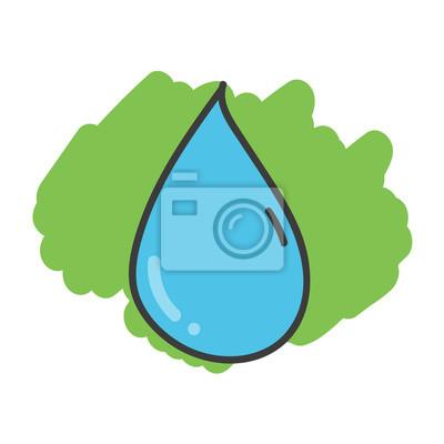 Dibujo De Dibujos Animados Gota De Agua Pinturas Para La Pared
