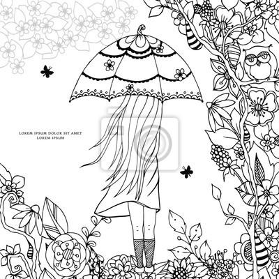 Dibujo Del Doodle Libro Para Colorear Anti Estres Para Adultos