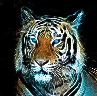 Cuadro Dibujo digital de un tigre