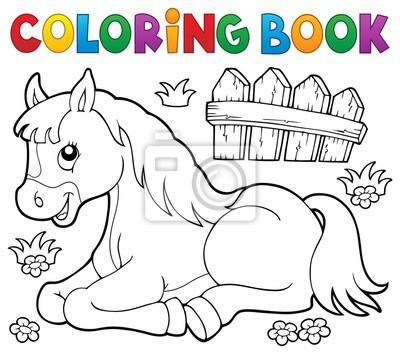 Dibujo para colorear caballo topic 1 pinturas para la pared ...