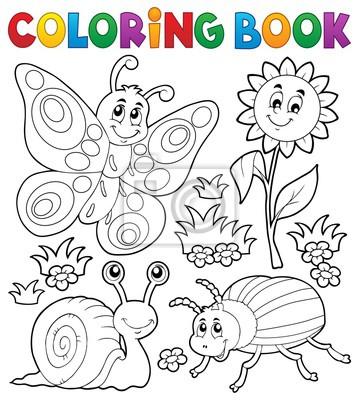 Dibujo para colorear con animales pequeños 3 pinturas para la pared ...