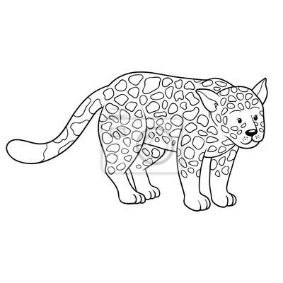Dibujo para colorear (jaguar) pinturas para la pared • cuadros ...