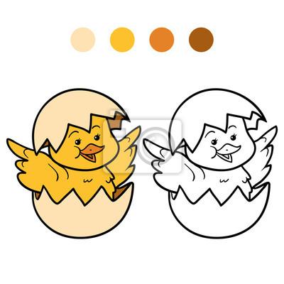 Dibujo Para Colorear Pollo Y Huevo Pinturas Para La Pared