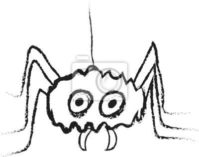 Dibujos animados araña de halloween pinturas para la pared • cuadros ...