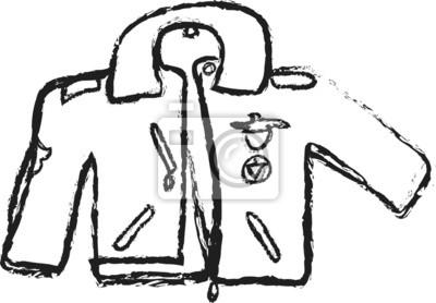 cb4d1c07394b7 Dibujos animados ilustración chaqueta de cuero pinturas para la ...