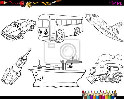 Dibujos Animados Para Colorear Pinturas Para La Pared Cuadros