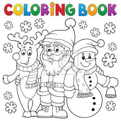 Cuadro Dibujos para colorear Personajes de Navidad