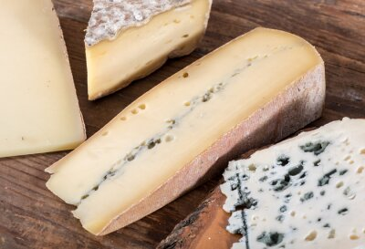 Cuadro Diferentes variedades de quesos franceses