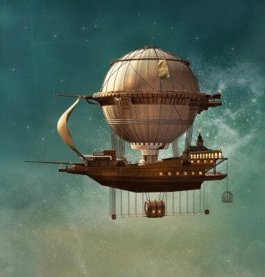 Cuadro Dirigible de la fantasía de Steampunk