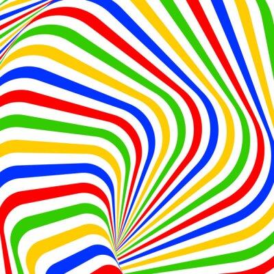 Cuadro Diseño colorido del vórtice movimiento ilusión