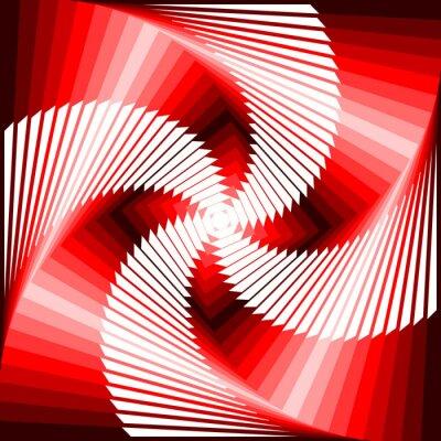 Cuadro Diseño colorido vórtice movimiento ilusión tetragon volver geométrica