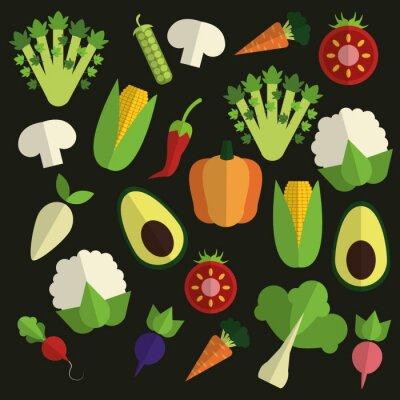 Cuadro Diseño de alimentos orgánicos