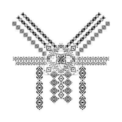 Cuadro Diseño De Cuello En Estilo étnico De La Moda