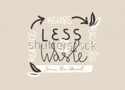 Cuadro Diseño de eslogan dibujado a mano de tipografía