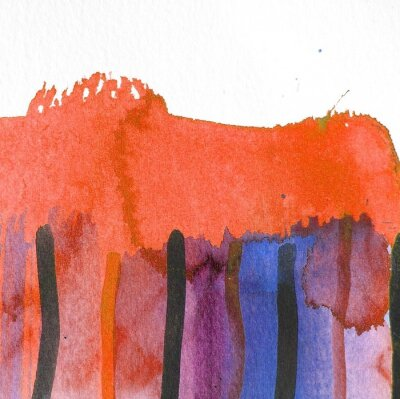 Cuadro Diseño de fondo de acuarela abstracta