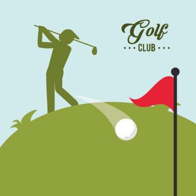 Cuadro Diseño de iconos de golf