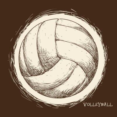 Cuadro Diseño de iconos de voleibol