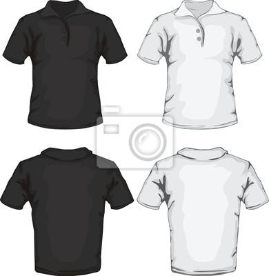 Diseño de plantilla de la camisa de polo pinturas para la pared ... 14d7251d822be