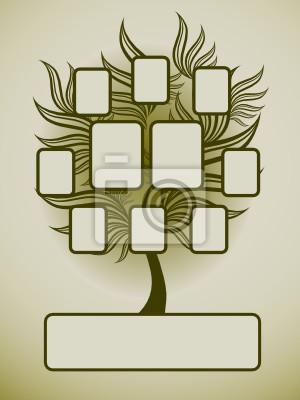 Diseño del árbol genealógico de vector con marcos pinturas para la ...