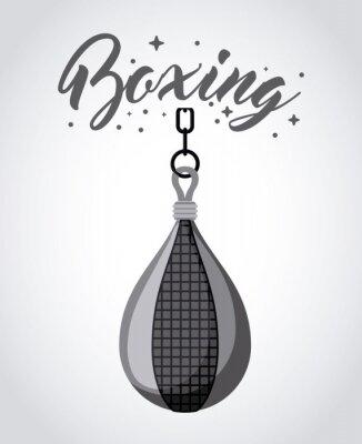 Cuadro Diseño del deporte del boxeo