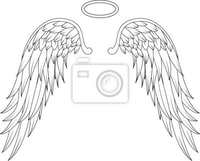 Diseño Del Tatuaje Alas Angel Pinturas Para La Pared Cuadros