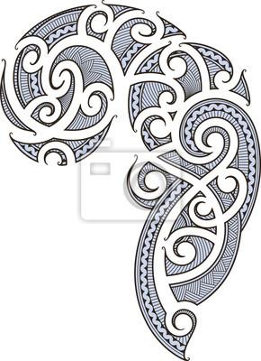 Diseo del tatuaje maor pinturas para la pared cuadros salvaje