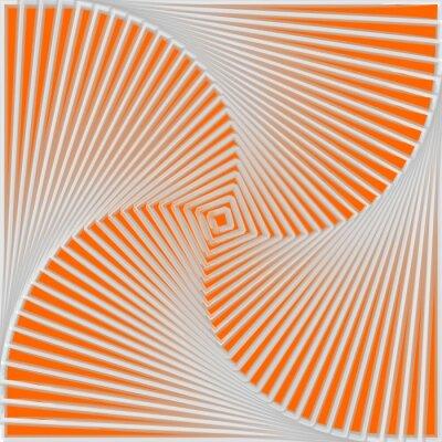 Cuadro Diseño giro colorido del fondo ilusión de movimiento