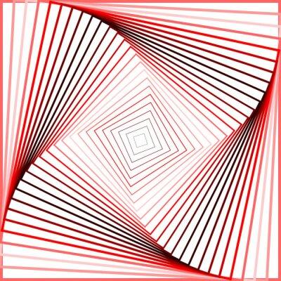 Cuadro Diseño giro colorido fondo movimiento ilusión