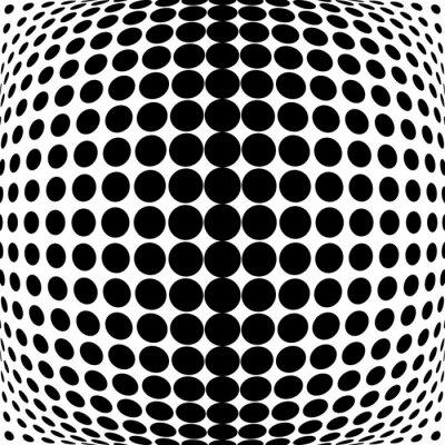 Cuadro Diseño puntos monocromo fondo