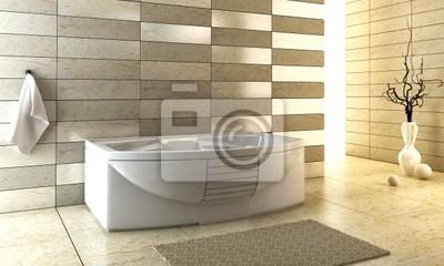 Diseño tejado escalonado del cuarto de baño pinturas para la ...