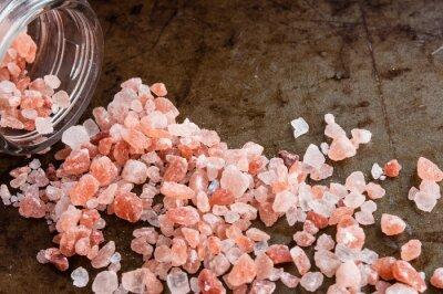 Cuadro Dispersos, Himalayan, rosa, sal, cristales, vidrio, botella, oxidado, metal, Plano de fondo